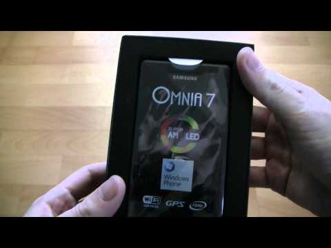 Samsung Omnia 7 Unboxing
