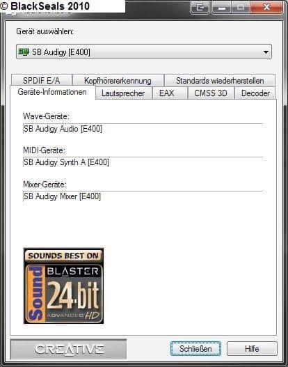 Read more about the article Bass bei 5.1 Anlagen mit Creative Soundkarten unter Windows Vista und Windows 7 aktivieren