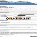 HTTP-Fehler 404.11, Escapesequenz werden abgelehnt im IIS