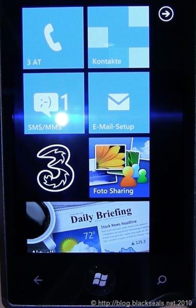 Samsung Omnia 7: so ist Windows Phone 7