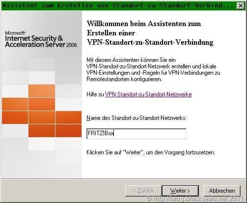 Read more about the article VPN zwischen FRITZ!Box Fon WLAN 7390 und Microsoft ISA Server 2006