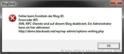 blogdesk_xml-rpc_fehler