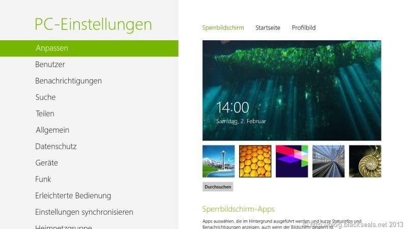 Windows 8: Standardanmeldebild abändern