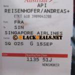 Flug Frankfurt nach Singapur Teil 2