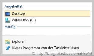 angeheftete Ordner unter Windows 8 lassen sich nicht löschen
