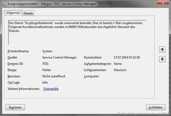 Remotedesktopdienste wurde unerwartet beendet