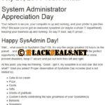 Heute ist System Administrator Appreciation Day 2014