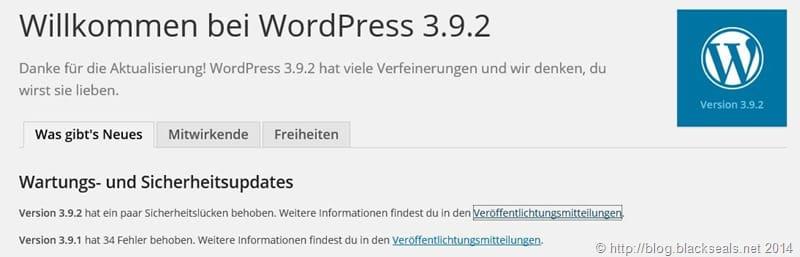 Read more about the article WordPress 3.9.2 verfügbar