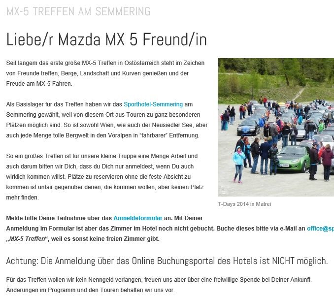 """Read more about the article Großes MX5 Treffen """"Meet the East"""""""