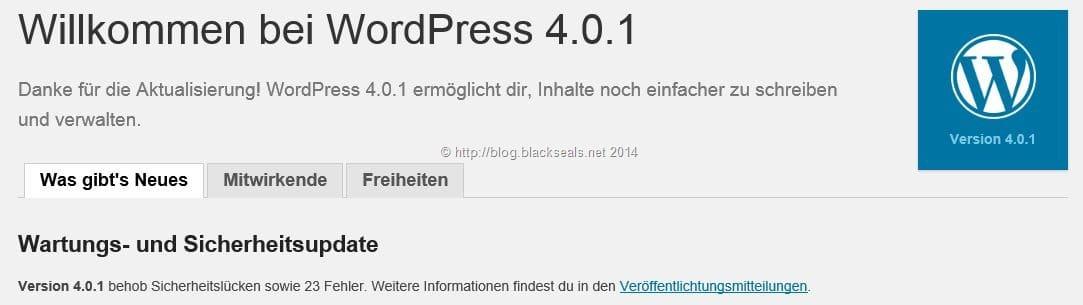 Read more about the article WordPress 4.0.1 ist verfügbar