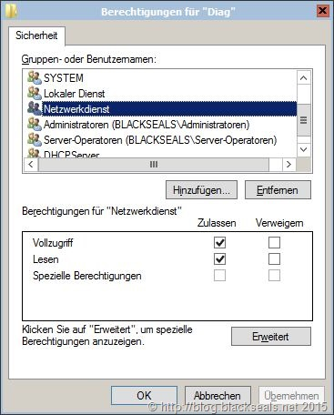 VSS meldet Ereignis 8193 mit Fehler 0x80070005
