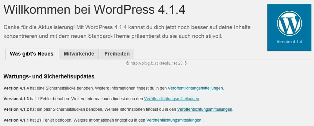 Willkommen bei WordPress 4.1.4