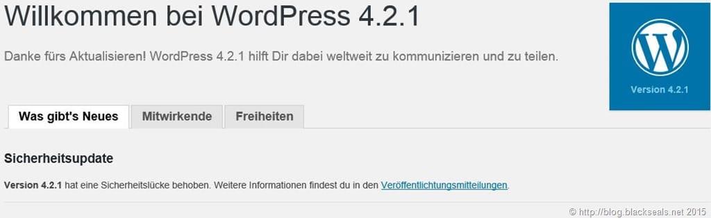 Willkommen bei WordPress 4.2.1