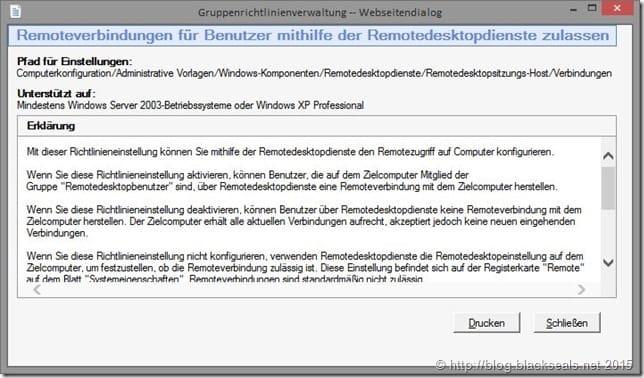 Remotedesktopverbindung_Gruppenrichtlinie_aktivieren