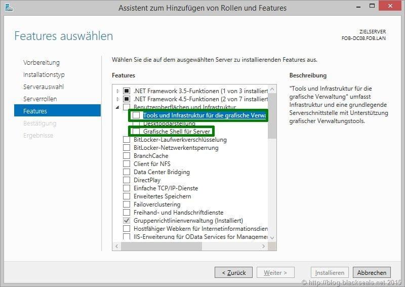 Remotedesktopverbindung für Windows Server Core aktivieren (lassen)