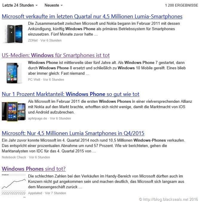 Windows Phone ist meist gefragte Plattform!