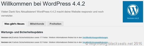 WordPress 4.4.2 ist erschienen