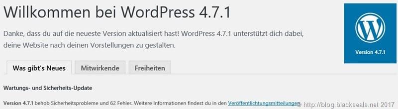 WordPress 4.7.1 ist da
