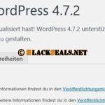 WordPress 4.7.2 ist da *Update*