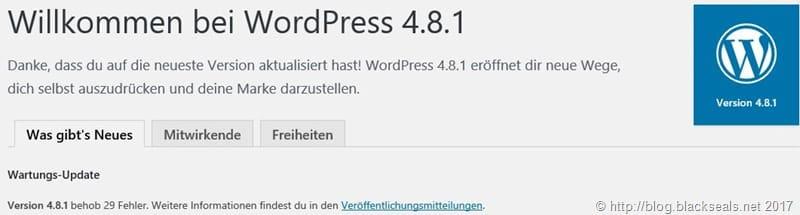 WordPress 4.8.1 ist da