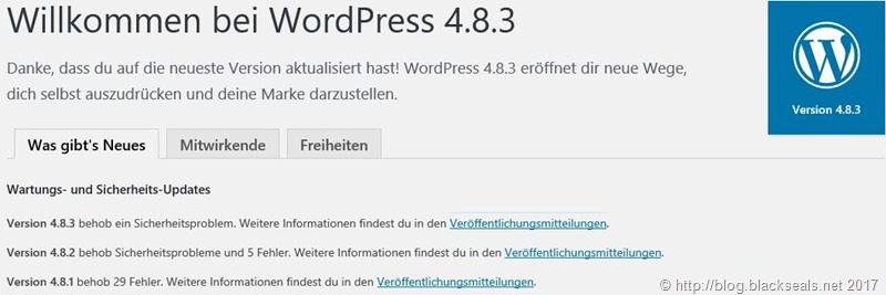 Read more about the article WordPress 4.8.3 ist da