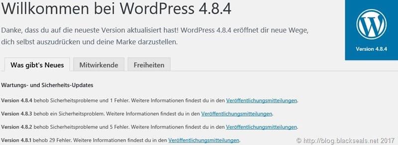 Read more about the article WordPress 4.9.1 und 4.8.4 ist da