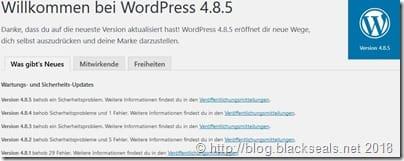 Read more about the article WordPress 4.9.2 und 4.8.5 ist da