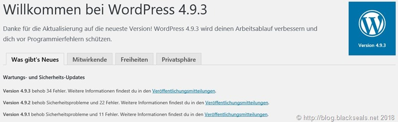 Read more about the article WordPress 4.9.3 ist da