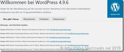 Read more about the article WordPress 4.9.6 ist da