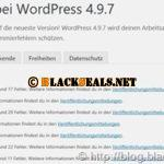 WordPress 4.9.7 ist da *Update*