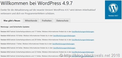Read more about the article WordPress 4.9.7 ist da *Update*