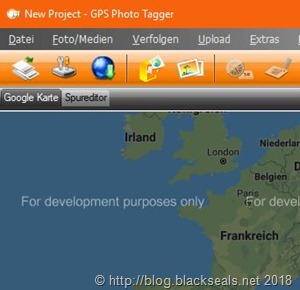 """GPS Photo Tagger 1.2.4 h5 und """"For development purposes only"""" *Update*"""