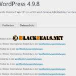 WordPress 4.9.8 ist da