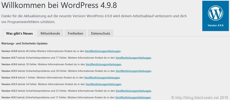 WordPress 4.9.8 ist da