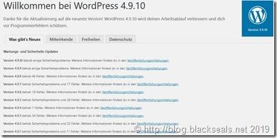 Read more about the article Sicherheitsupdate mit WordPress 4.9.10 bzw. 5.1.1 ist da