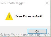 gps-photo-tagger_keine-Daten-im-Geraet