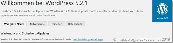 Read more about the article WordPress 5.2.1 ist da