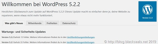 Read more about the article WordPress 5.2.2 ist da