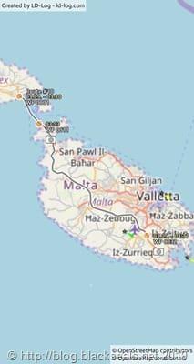 gozo_malta2019_heimreise_map