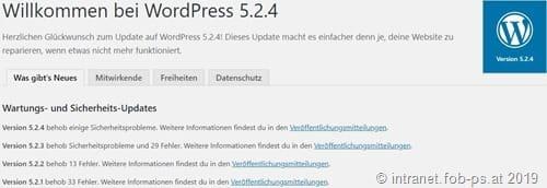 WordPress 5.2.4 ist da