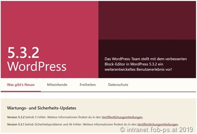 WordPress 5.3.2 ist da