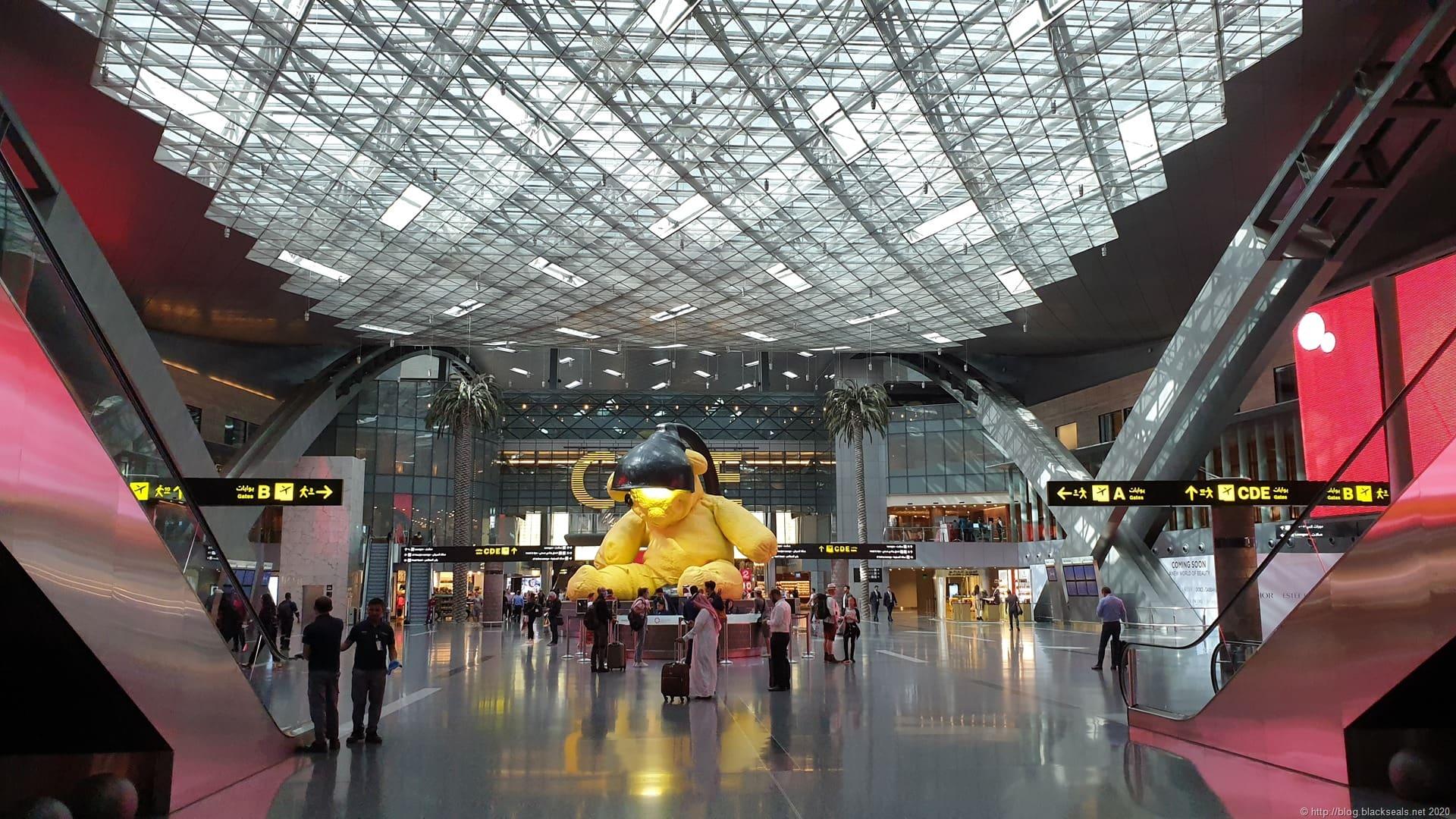 Doha Flughafen Ankunft