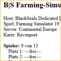 BlackSeals Farming-Simulator Dedicated Server