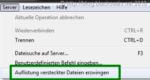 In FileZilla versteckte Dateien am Server anzeigen